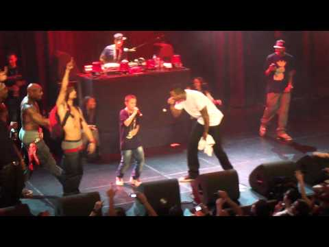 Rapper invites a little kid to the stage, turns out the kid knows ALL the lyrics and everybody goes crazy.