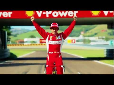 Fernando Alonso drives Ferrari Bike CF8 around Fiorano Commercial 2011 - Carjam Car Radio Show
