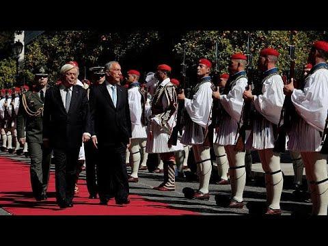 Ο Πορτογάλος πρόεδρος στην Αθήνα – Αυστηρό μήνυμα Παυλόπουλου