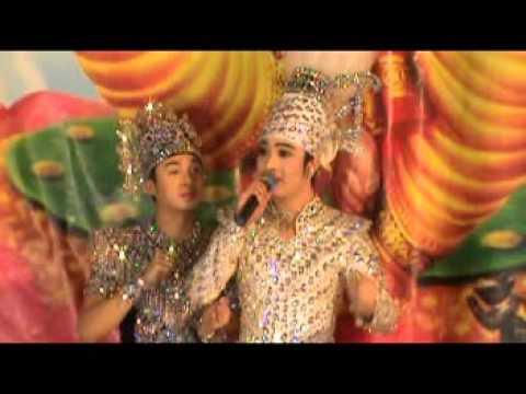 น้องแน็ท - พระเอกสุดที่รัก นีโน่ แสดงงานไหว้ครูหอมหวล ณ วัดป่าเรไร ต.บางศรีเมือง จ.นนทบุรี.