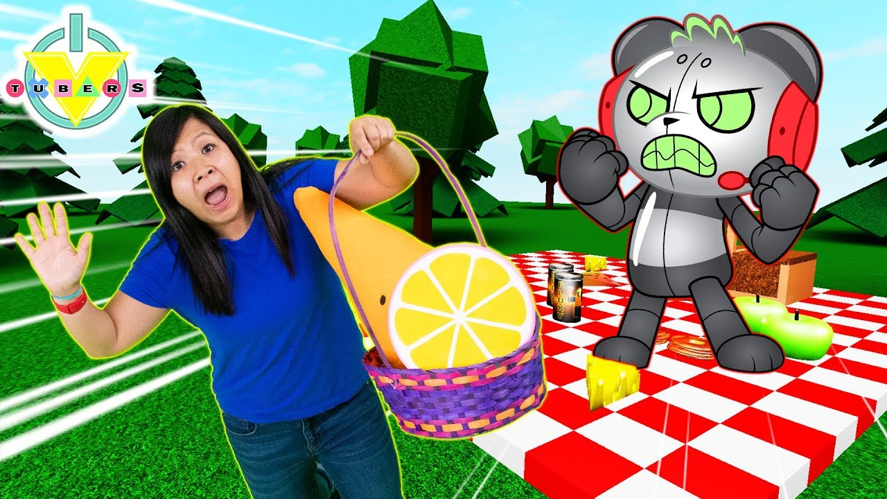 RYAN'S MOMMY ESCAPE THE PICNIC OBBY ! Let's Play with Robo Combo Panda - YouTube