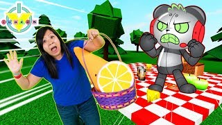 RYAN'S MOMMY ESCAPE THE PICNIC OBBY ! Let's Play with Robo Combo Panda