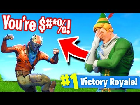 Getting *ROASTED* In Fortnite Battle Royale!