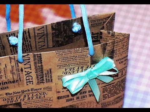 Подарочный пакет быстро своими руками 88