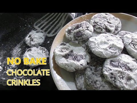 No Bake Chocolate Crinkles | No Oven Chocolate Crinkles  | Stove Top Chocolate Crinkles