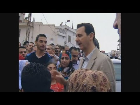 Video Bashar al-Assad in rare public appearance download in MP3, 3GP, MP4, WEBM, AVI, FLV January 2017