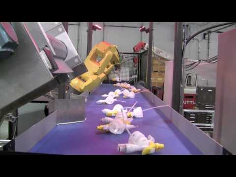automation - Robotic Bottling Automation Line.