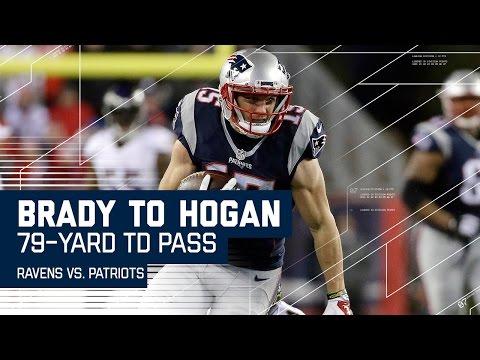 Video: Brady Launches 79-Yard Bomb to Chris Hogan for the TD!   Ravens vs. Patriots   NFL Wk. 14 Highlights