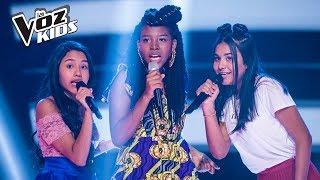 Isabella Lucía, Valeri y Danna cantan Falsas Esperanzas – Batallas   La Voz Kids Colombia 2018