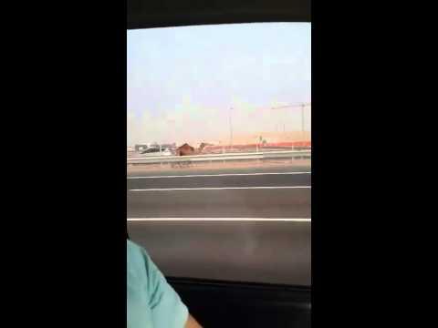 incredibile!! cammello inseguito dal padrone in autostrada!