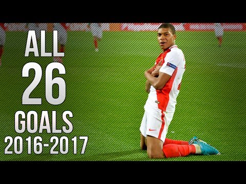 Kylian Mbappe - All 26 Goals 2016/17 HD