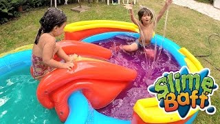 Video SWAP PISCINE DE SLIME avec STUDIO BUBBLE TEA en duplex (Partie 2) - Démo Jouets MP3, 3GP, MP4, WEBM, AVI, FLV Mei 2017