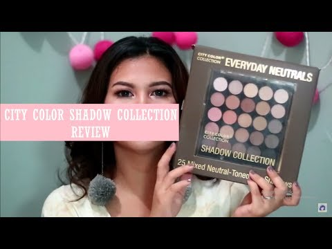 Review CITY COLOR 25 mixed Neutral eyeshadow (видео)