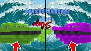NOOB vs PRO vs HACKER - TSUNAMI BOAT CHALLENGE| Minecraft w/ Little Kelly and Tiny Turtle
