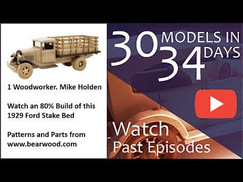 Wooden Model stake bed 90% complete school bus 80%