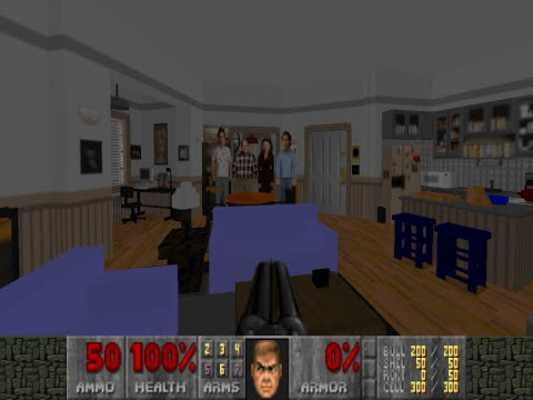 Someone spent over 100 hours of work to recreate Seinfeld's apartment in DOOM 2!
