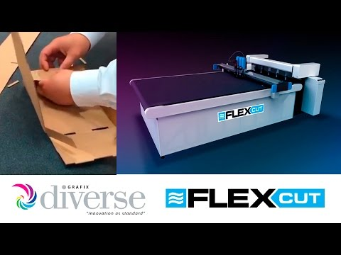 Diverse Grafix FlexCut: Cutting complex packaging from carton board.