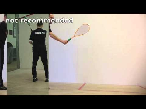 Squash Return of Serve Tips: Squash Racket Ready Position Squash Shots Tips Squash Clips