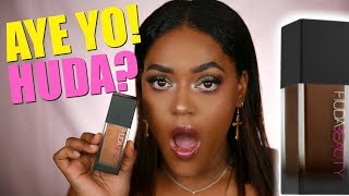 WE LIT? HUDA BEAUTY #FAUXFILTER FOUNDATION REVIEW | WOC DARK SKIN