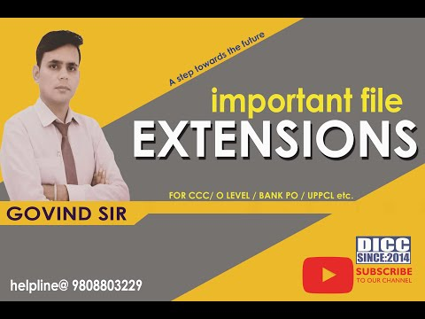 Important File Extension of Computer | CCC Exam Preparation in Hindi