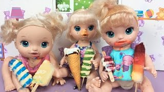 Video Baby Alive Oyuncak Bebekler ile Dondurma Partisi | Bebek Videoları | EvcilikTV MP3, 3GP, MP4, WEBM, AVI, FLV November 2017