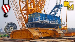 Video GIANT CRAWLER CRANE TEREX CC 9800 SARENS ERECTING WIND ENERGY PLANT MP3, 3GP, MP4, WEBM, AVI, FLV Mei 2017