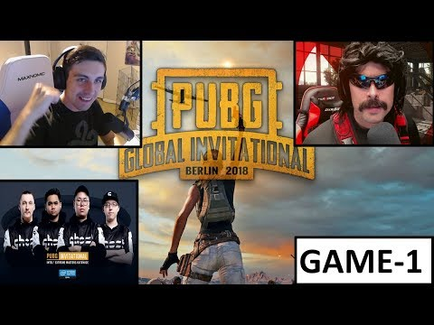 Shroud+DrDisrespect+GhostG | PGI 2018 | Game-1 | PUBG Squad | July 27