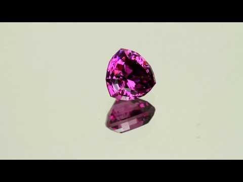 Rhodolite Garnet Trilliant Gemstone