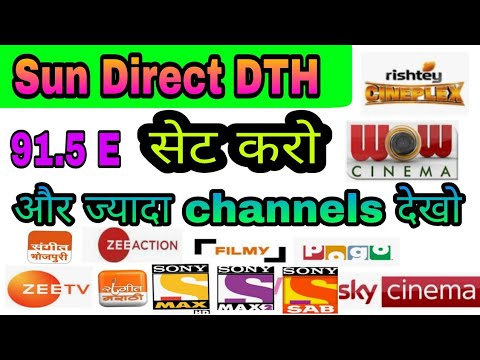 How To Set Sun Direct DTH Free Dish TP And Free To Air Channels Add Set Top Box In Best Setting