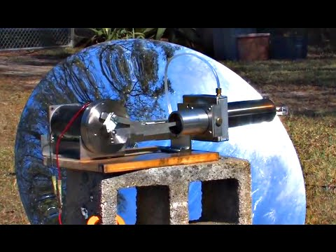STIRLING ENGINE SOLAR POWER PARABOLIC MIRROR ELECTRIC GENERATOR