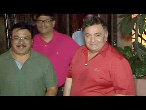 Rishi Kapoor Spotted After Party With A Friend!