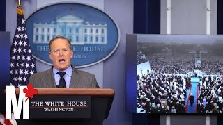Sean Spicer has resigned as White House Press Secretary after six months. Here's a mashup of his greatest hits behind the ...