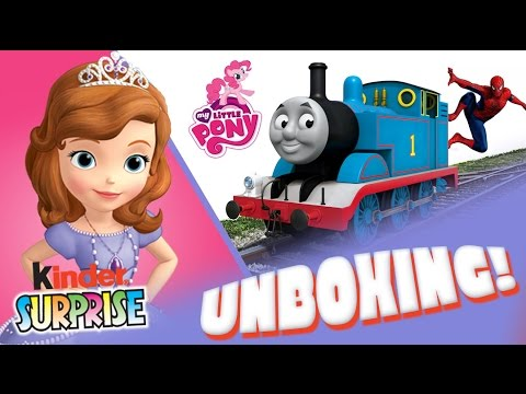 thomas - Toys: Sofia the First Spiderman MLP My Little Pony Thomas and Friends Kinder Surprise Eggs for Kids Unboxing & more Sofia, MLP, Thomas in kinder surprises unboxing Read below for more videos...
