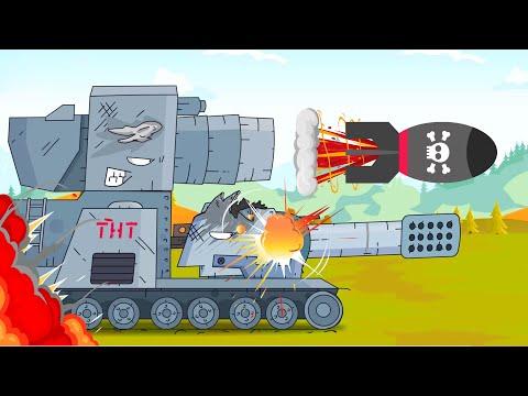 Tanques atacaron al enemigo. Tanques animados para niños. Mundo de tanques animados.