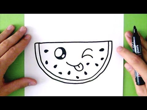 Video HOW TO DRAW A CUTE WATERMELON - SUPER EASY download in MP3, 3GP, MP4, WEBM, AVI, FLV January 2017