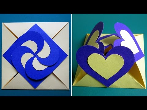Love card sealed with hearts - learn how to make a heart-lock greeting card - EzyCraft (видео)
