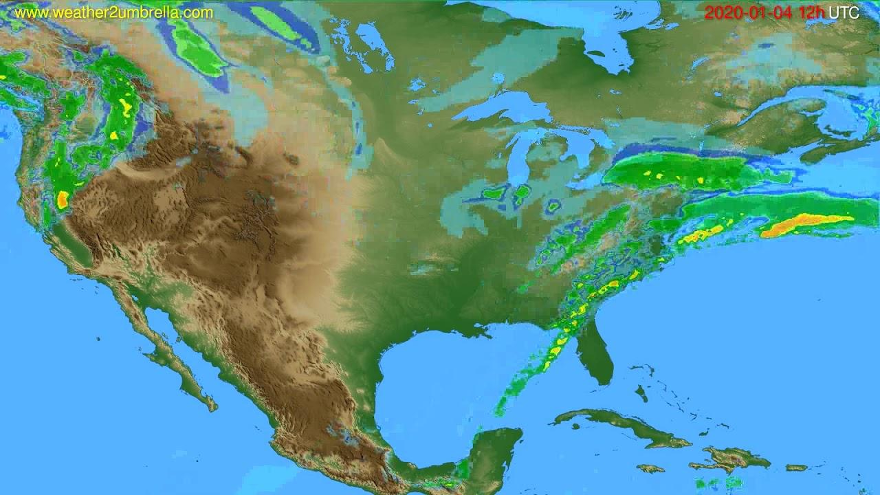 Radar forecast USA & Canada // modelrun: 00h UTC 2020-01-04