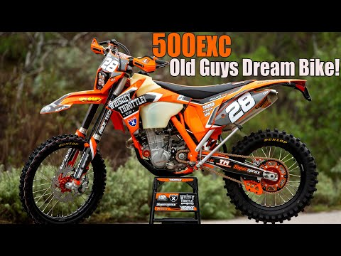 KTM 500EXC 50+year-olds dream bike & we have the best one!