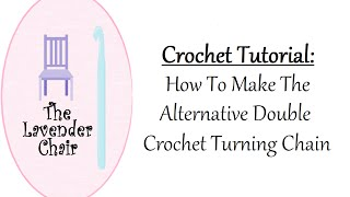 In this crochet tutorial by The Lavender Chair you will learn how to make the alternative double crochet turning chain. This method is commonly used to reduce the appearance of holes on the sides of your double crochet projects.