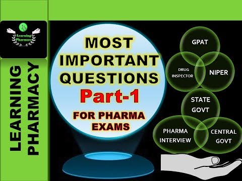 Part-1 RECENTLY APPROVED DRUGS BY US-FDA - MOST IMPORTANT QUESTIONS FOR UPCOMING PHARMACY EXAMS