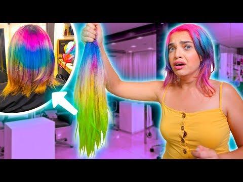 Hair cutting -  EU CORTEI MEU CABELO SOZINHA - PQ EU FIZ ISSO???