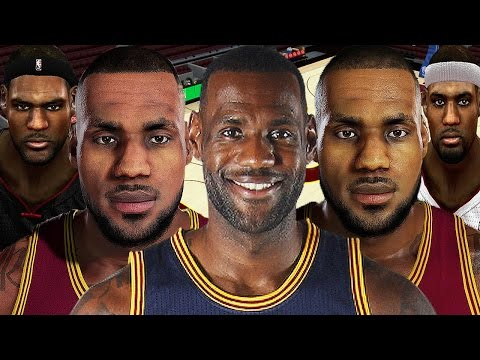 LeBron James From NBA 2K4 to NBA 2K17