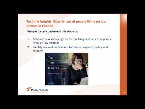 Take the stress out of tax filing for people living on low incomes