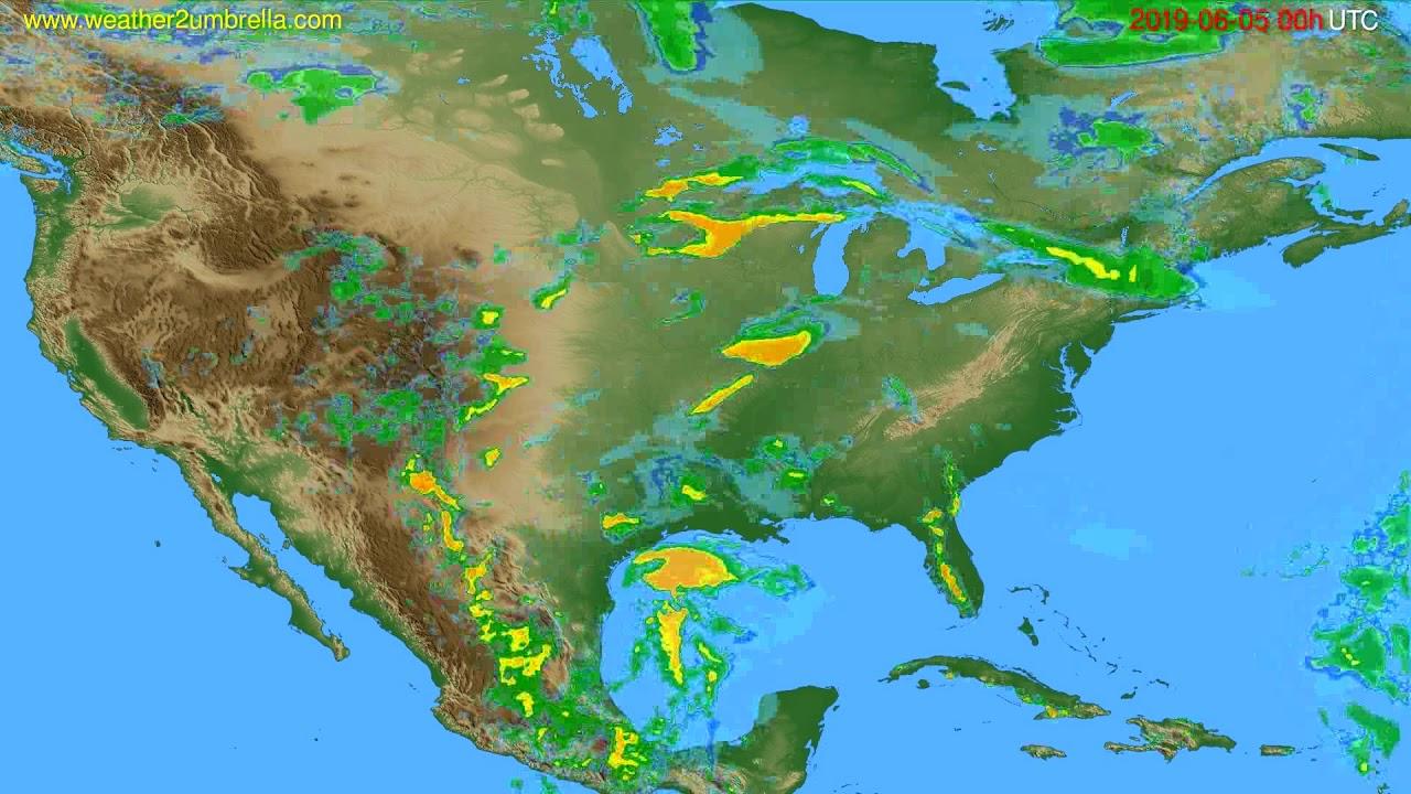 Radar forecast USA & Canada // modelrun: 12h UTC 2019-06-04