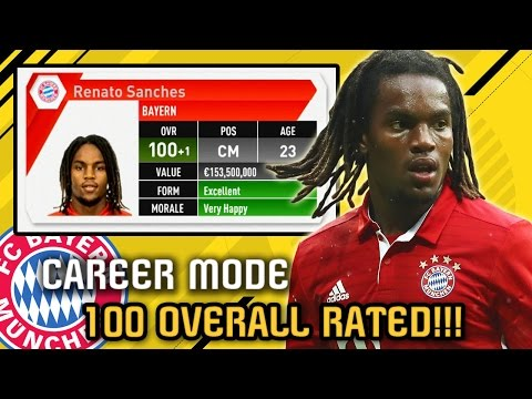 OMG!!! 100 OVERALL RATED in CAREER MODE!!! FIFA 17 Bayern Munich Career Mode
