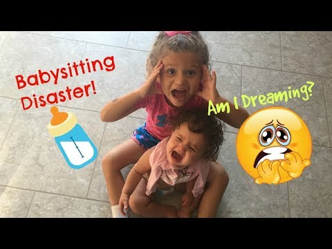 Babysitting Disaster Fail SKIT! Surprise Ending...is it all a bad DREAM? Sister Sister!