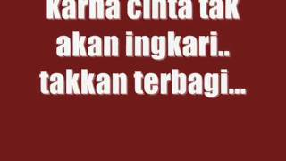 tangga - cinta begini with lyrics [HQ]