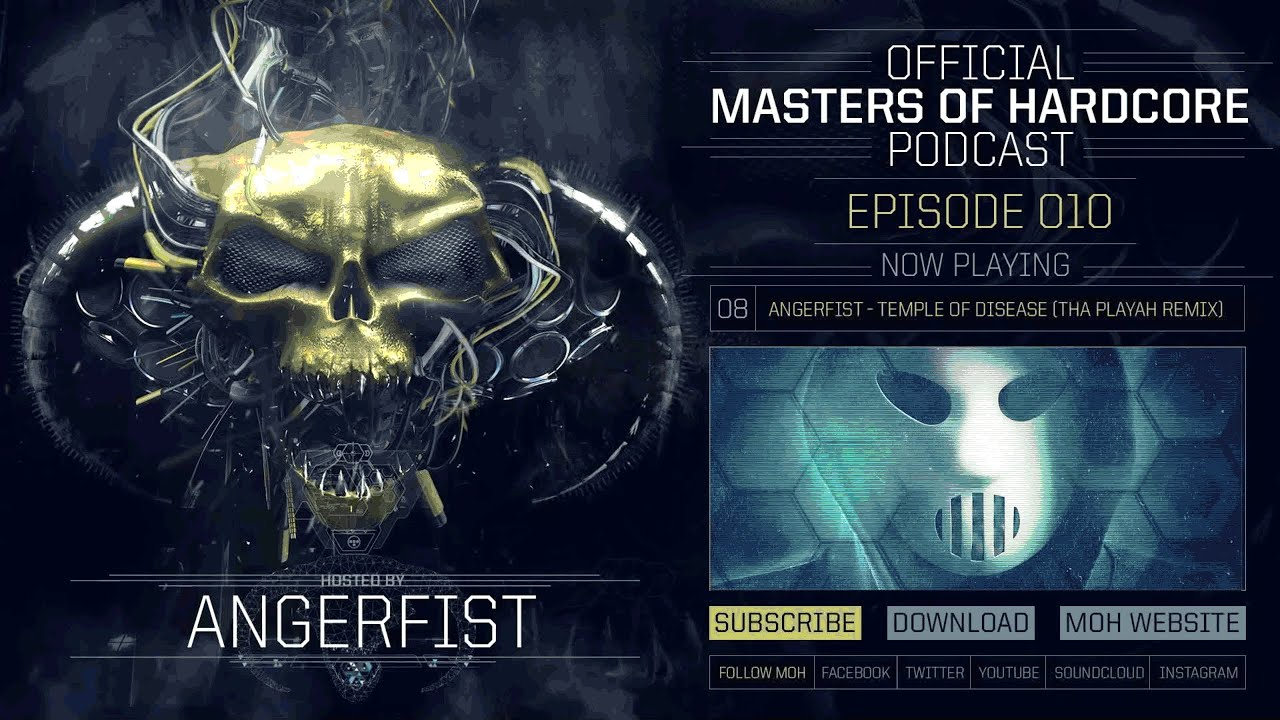 songs in angerfist masters of hardcore podcast 10 youtube