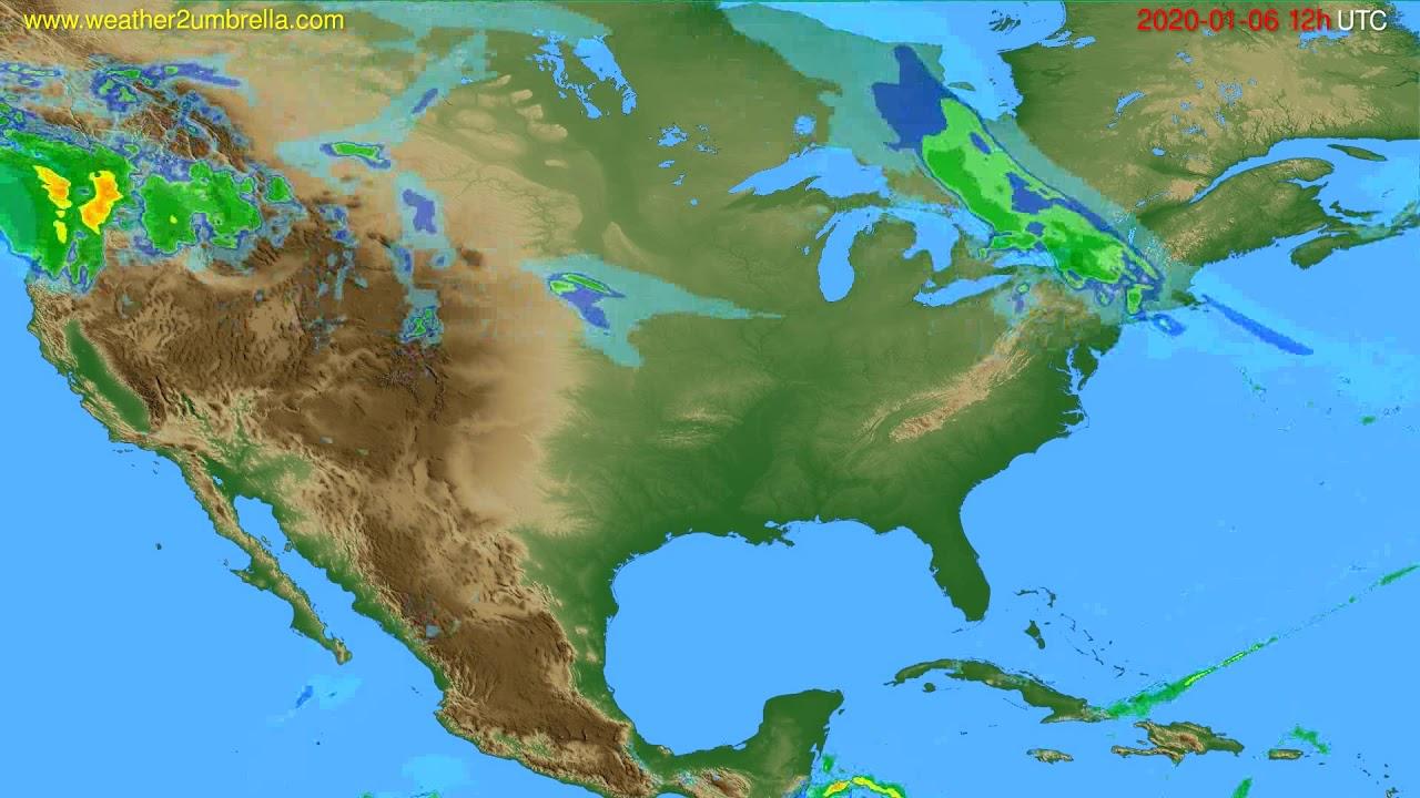 Radar forecast USA & Canada // modelrun: 00h UTC 2020-01-06