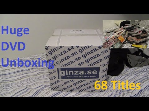Giant DVD Unboxing - 68 Titles!